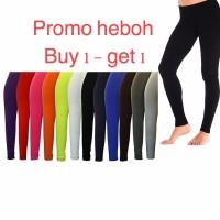 promo murah BUY 1 GET 1 Celana legging panjang basic bahan katun span