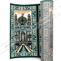 baru Sajadah Karpet Roll Murah Masjid Mushola Motif Hijau Mesjid Tebal
