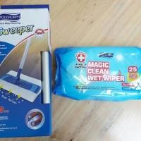 Alat Pel Lantai super mop + Tisue Basah / Paket Magic Clean Wet Wiper