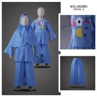 MSA 148 Biru umur (2-4Tahun ) gamis anak hoodie hijab anak muda