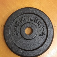 Kettler Iron Weight Plate 5 KG ORIGINAL / Piring Barbel Besi