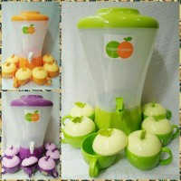 Paket water dispenser drink jar golden sunkist isi 10ltr +Gelas set