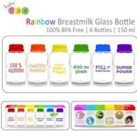 Baby Pax Botol Asi Kaca Rainbow-sku31596