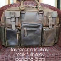 tas kulit asli merk fullhardy/leatherbag/tas pria