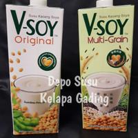 Jual Vsoy Susu Kedelai Original / Multi Grain   V-soy Soya Milk 1 Liter UHT Murah