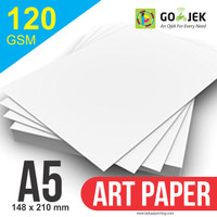 Kertas Printer Art Paper 120 GSM Ukuran A5