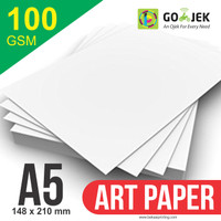 Kertas Printer Art Paper 100 GSM Ukuran A5
