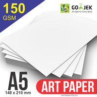 Kertas Printer Art Paper 150 GSM Ukuran A5