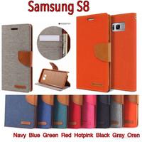 Galaxy S8 Original Mercury Goospery Canvas Diary Case Samsung S 8