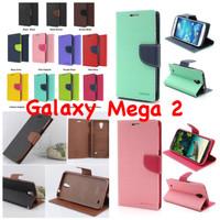 Samsung Galaxy Mega 2 Original Mercury Goospery Fancy Diary Case Mega2