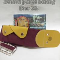 ikat pinggang/sabuk/gesper haji (gesper Betawi) kalep warna merah