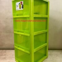 LEMARI / LACI PLASTIK PRINCIA SUSUN 4 CLARIS (DENGAN RODA)