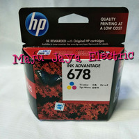 Catridge Tinta HP Printer 678 Original Black / Colour SAMA HARGA