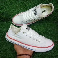 SEPATU SHOES SNEAKERS  CONVERSE ALL STAR WHITE KOMBINASI RED BLUE