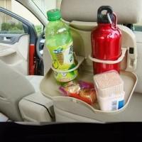 Meja Portable Mobil Car Travel Dining Tray Table Makan Lipat Organizer