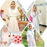 Promo Gamis Anak dan Manset anak warna putih
