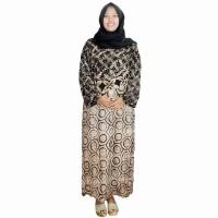 Jual Daster Wanita Longdres Lengan panjang Batik Cap, Leher O (RLD001-09) Murah