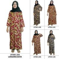 Jual Daster Wanita Longdres Batik,Daster Lengan Panjang, Baju Tidur, Murah