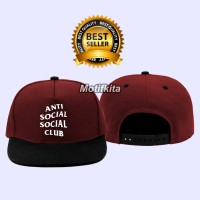 Topi Snapback ANTI SOCIAL SOCIAL CLUB  Motifkita