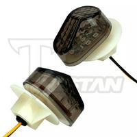 Lampu Sen LED Tempel Kecil Smoke Lampu Warna Kuning motor Fairing