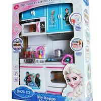Mainan Lemari Dapur Komplit Lucu Anak Perempuan FROZEN KITCHEN SET