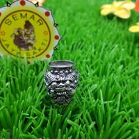 Cincin Perak Bali motif Barong Bali Ring untuk ikat Batu