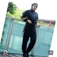 Baju Renang Muslimah Polite Warna Black-Gold M