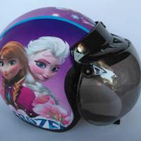 helm bogo anak frozen ungu usia 3-7 tahun ( 1 kg isi 2 pcs helm)