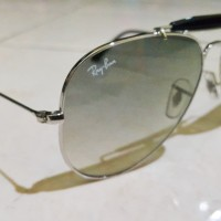 10be3cb28f Original Rayban Aviator RB 3407 - 03 Silver with Black Gradient Len