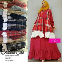 Baju Muslimah/Longdress/Maxydress/Gamis Maxi Cantik Polos Kotak Butik