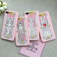 card captor sakura kartu jepang iphone case 6 6s plus 7 7+ 8 8+ X lucu