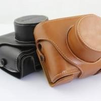 Leather Case + Strap untuk Kamera Fujifilm X10 & X20