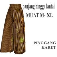 Bawahan batik Celana Kulot batik Panjang C101 hitam putih