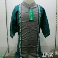 Baju Koko Anak Muslim Bordir Lengan Pendek Murah Tanah Abang KKT 035