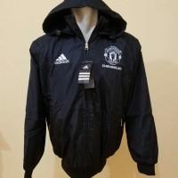 Dijual Jaket Parasut Mu Manchester United Hitam Waterproof Bolak Balik