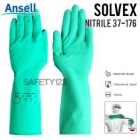 Ansell Solvex 37-176 Nitrile Sarung Tangan Kimia Berbahaya Original