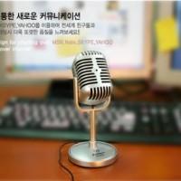 MICROPHONE KOMPUTER TRANSHINE, Mic meja PC untuk karaoke / videocam