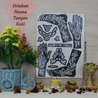 Cetakan Henna Tangan dan Kaki 1 Set/Henna Arab Pengantin/Haji Umroh