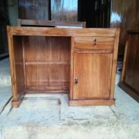 meja kantor jati meja kerja minimalis full kayu