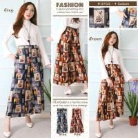 Celana Kulot Wanita - Kulot Panjang Batik Modern
