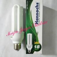 Bohlam Lampu Hannochs 18 W watt 3U Putih 18w PLC Essential Esensial