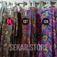 Jual promo murah Daster Batik Lengan Panjang Kencana Ungu Label Biru wanit Murah