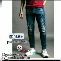 terbaru calana jeans celana pria celana sobek jeans pensil jeans skin