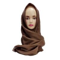 Grosir Jilbab Saudia Ansania Rawis Biru Coklat Tua
