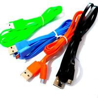 Kabel data Android Micro USB 1M Flat bisa untuk charger semua merk Hp