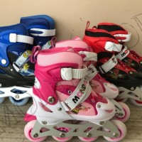 Sepatu Roda Anak Power Inline Skate POWER RODA NYALA LED PACKING POUCH 7c13985270