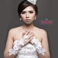 Sarung Tangan Pengantin Lace Fingerless l AKsesoris Wedding - STB 001