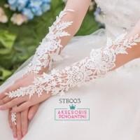 Sarung Tangan Wedding Lace Fingerless l Aksesoris Pengantin - STB 003