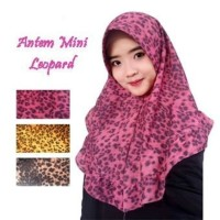 Jilbab Instan Antem Minni Leopard