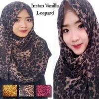 Pashmina Instan Vanilla Leopard